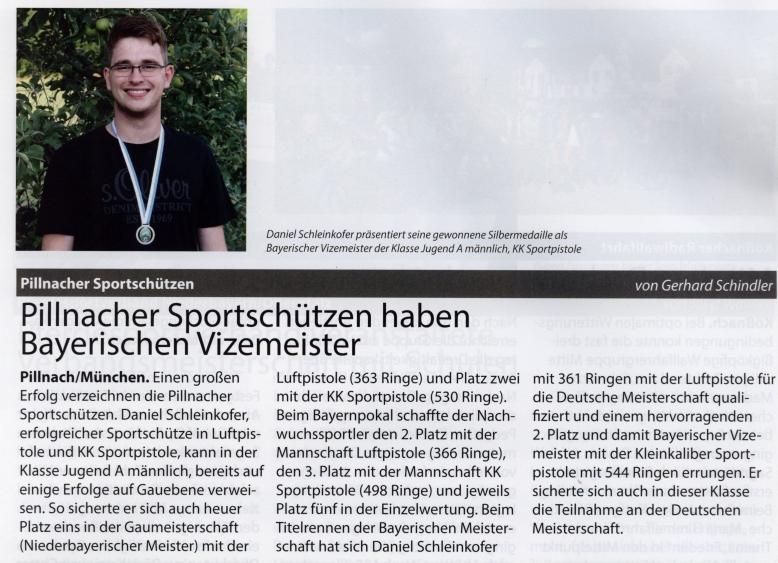 Gemeindeblatt Sportschützen