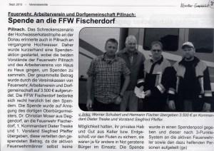 Spende Fischerdorf 2013