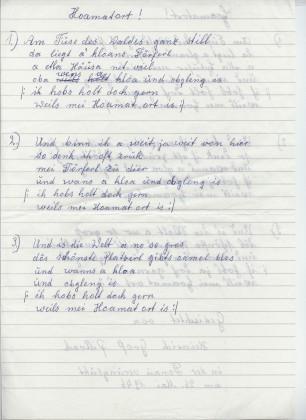 Schreibschrift geschrieben