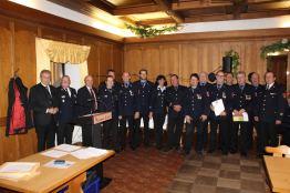 Die geehrten Mitglieder der FF Pillnach mit Vorstandschaft