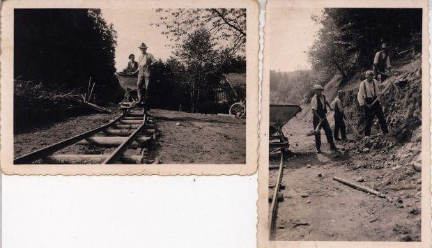 Straßenbau Holzmüle 1937