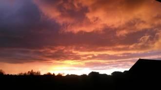 Sonnenuntergang in Buina