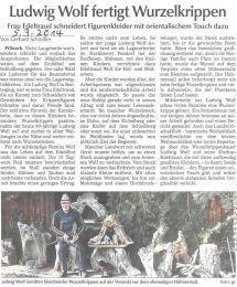 Zeitungsartikel 2014