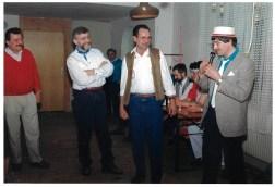 FF Fasching 1990. v. l. Edmund Riedl, Bernhard Schiedeck, Englbert Kraus, Hubert Laumer