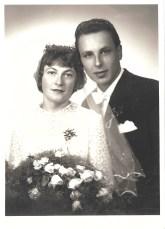 Hochzeitsbild Helmi und Englbert 1958