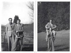 Bild links: mit Rupert Rager, Bild rechts: mit Martin Biederer