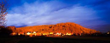Sonnenuntergang am Eichelberg am 11.03.2020