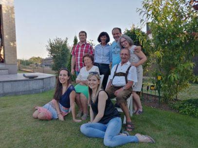 Jubilar mit Familie
